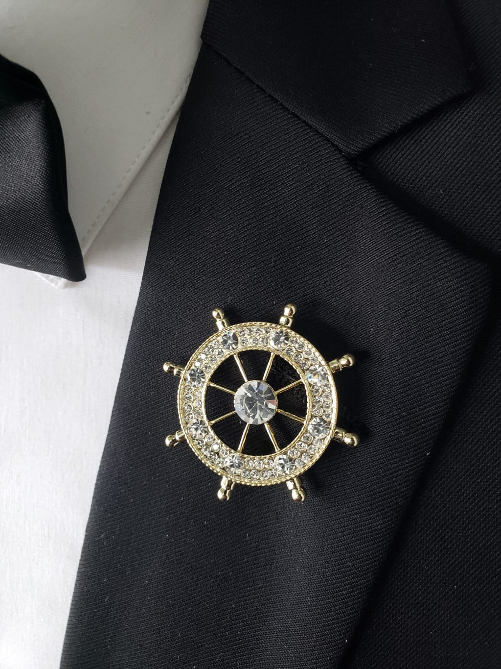 Gold Compass lapel pin