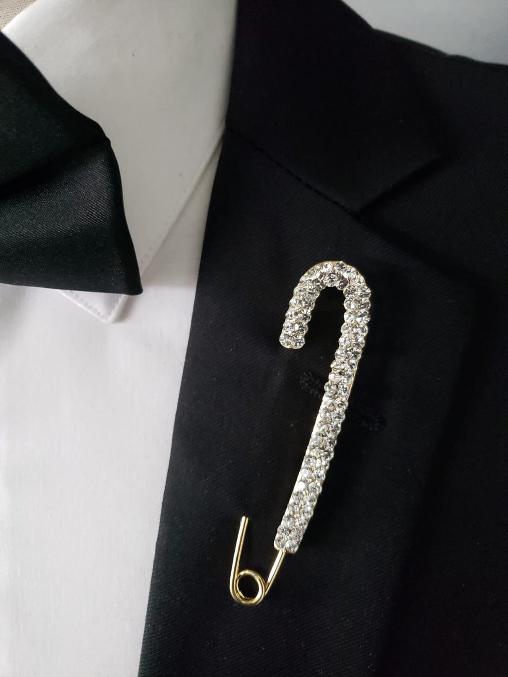 Gold and Silver Safety Pin lapel pin