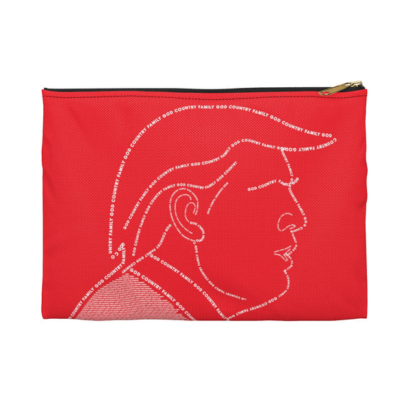 God, Country, Family - Accessory Pouch (Red)