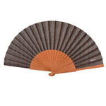 Load image into Gallery viewer, Grey herringbone hand fan
