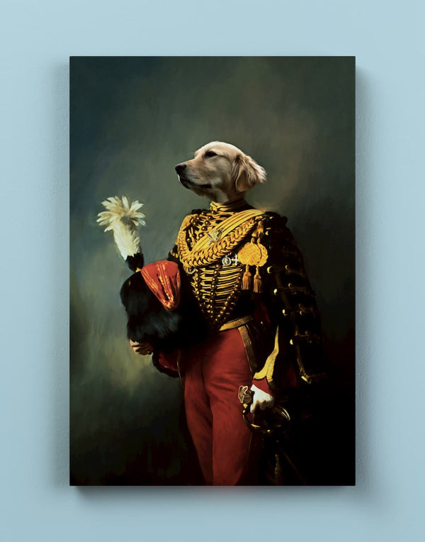 The General - Custom Pet Canvas - Make Me a Royal