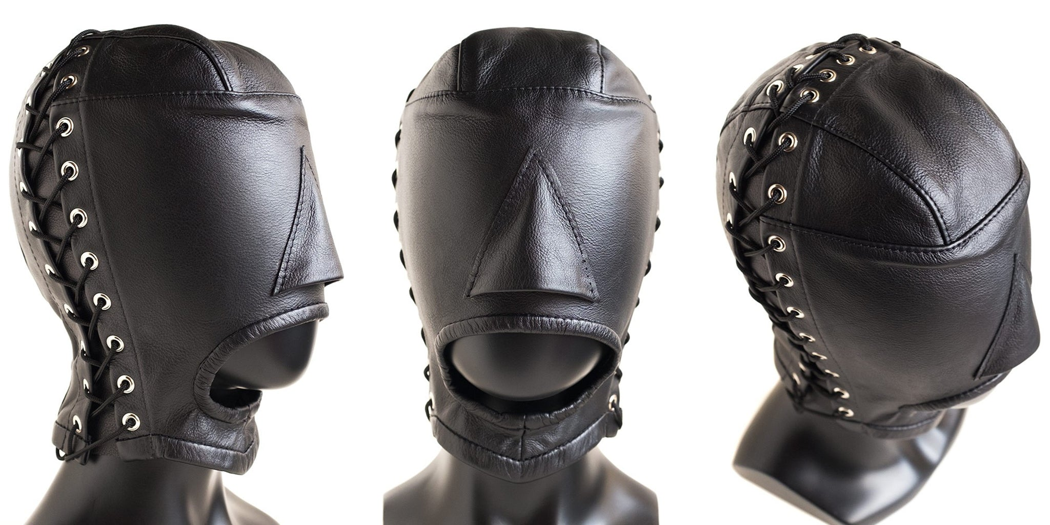 Male Stockroom Blog: Product Highlight on the Open Mouth Leather Hood