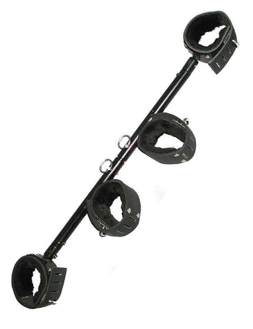 Adjustable Stocks Spreader Bar with Wrist and Ankle Cuffs  BDSM GEAR BONDAGE RESTRAINTS