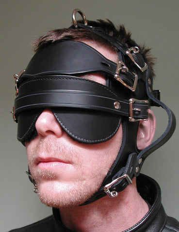 Inescapable Head Harness-BDSM GEAR, HOODS & BLINDFOLDS-Male Stockroom