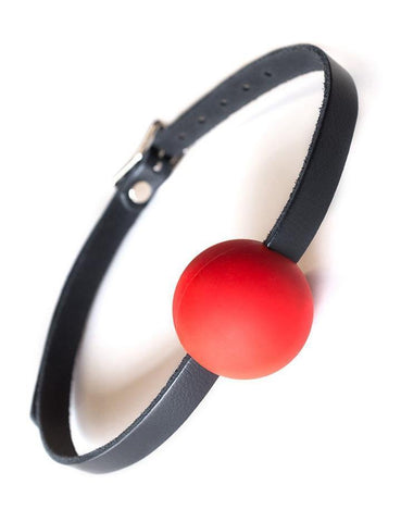 KinkLab Red Silicone Ball Gag  BDSM GEAR GAGS & MUZZLES