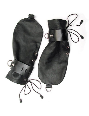 KinkLab Leather Bondage Mittens  BDSM GEAR BONDAGE RESTRAINTS