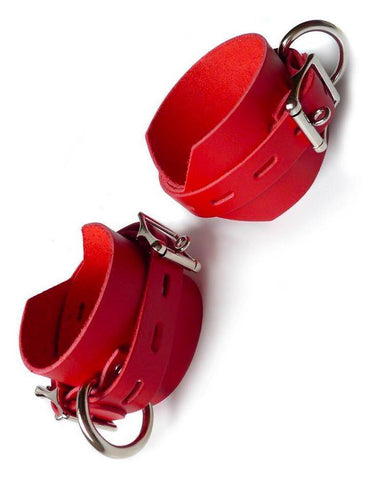 Locking/Buckling Ankle Cuffs, Red