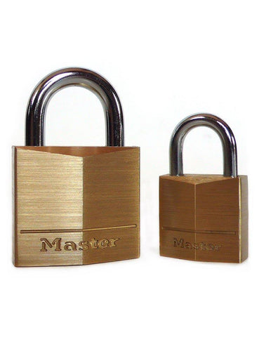 Master Lock Brand Keyed Padlocks Brass  BDSM GEAR BONDAGE RESTRAINTS