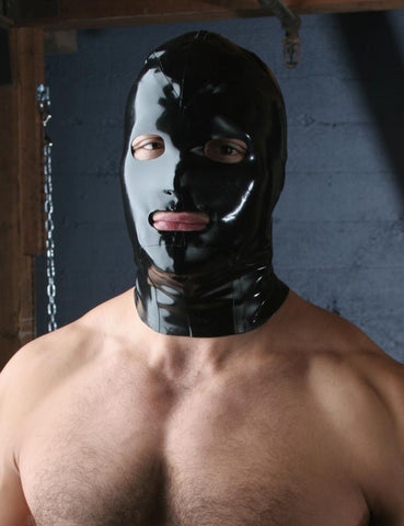 Rubber Hood w/Zipper-BDSM GEAR, HOODS & BLINDFOLDS-Male Stockroom