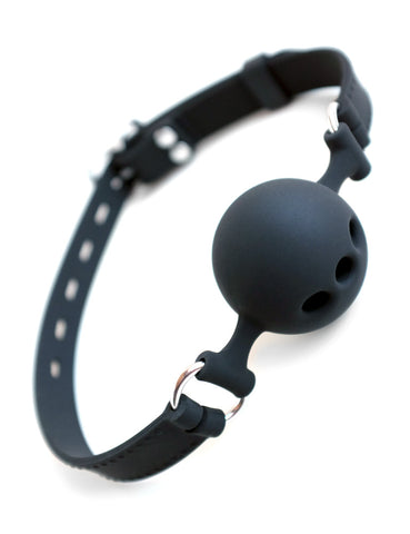 Silicone Breathable Ball Gag-BDSM GEAR, BEST SELLERS, GAGS & MUZZLES-Male Stockroom