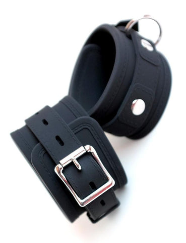 Silicone Locking Wrist Cuffs  Pair   BDSM GEAR BONDAGE RESTRAINTS