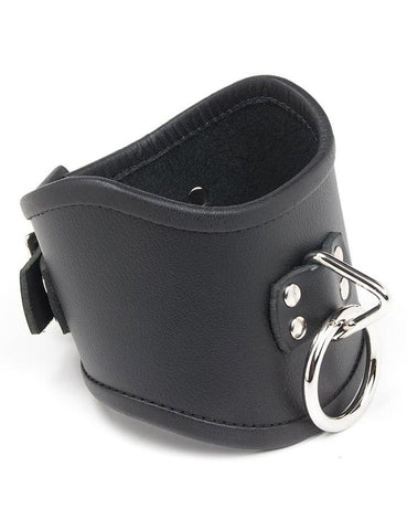 Tall Curved Posture Collar w/ Locking Buckle  BDSM GEAR BONDAGE RESTRAINTS