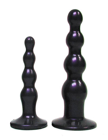 Tantus Ripple Anal Beads Butt Plug Midnight Purple Small  SEX TOYS ANAL TOYS