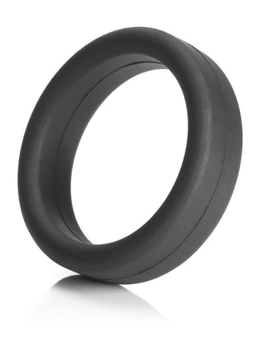 Tantus Super Soft Silicone Cock Ring Black  SEX TOYS COCK & BALLS