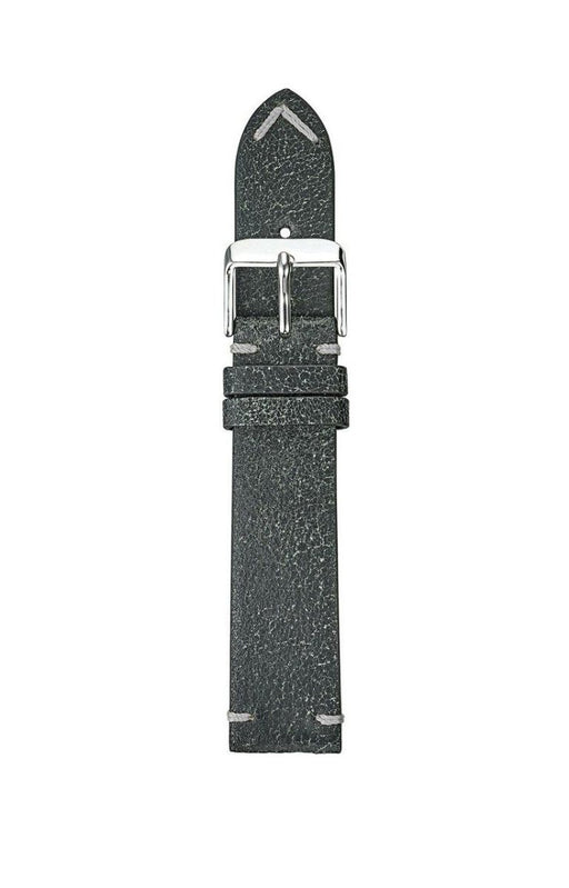 Bomber Leather Watch Band Black watch band - Strapped For Time®