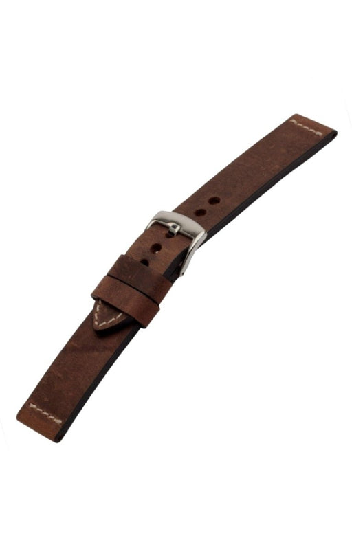 Distressed Leather Watch Band Dark Brown watch band - Strapped For Time