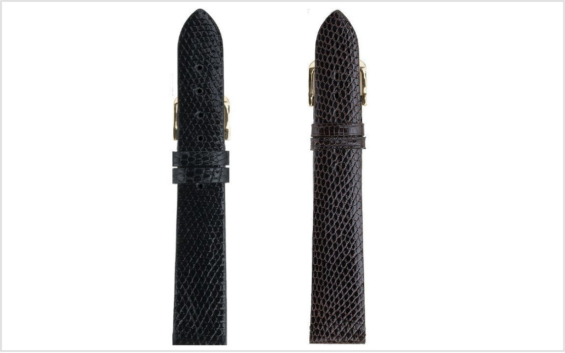 Genuine Lizard Watch Band Black watch band - Strapped For Time