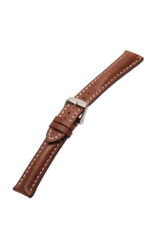 Heavy Pad Vintage Calfskin Brown watch band - Strapped For Time