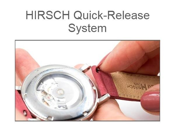Hirsch Osiris Box Leather Light Brown watch band - Strapped For Time®