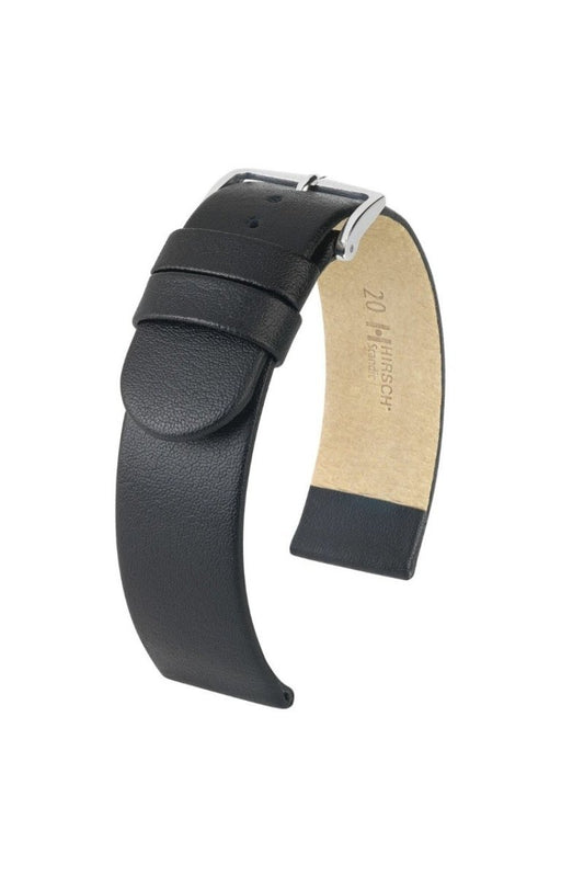 Hirsch Scandic Black Wide Width watch band - Strapped For Time