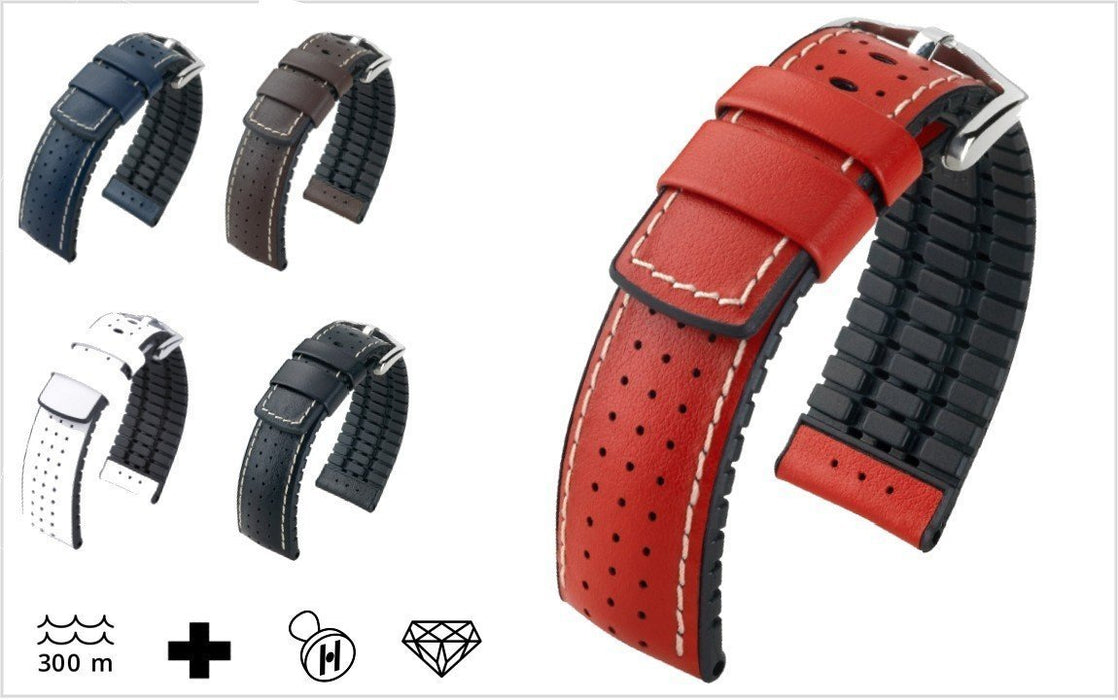 Hirsch Tiger Watch Band Red watch band - Strapped For Time