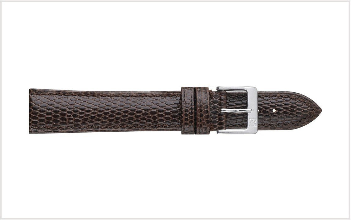 Padded Lizard Grain Watch Band Brown watch band - Strapped For Time