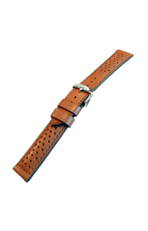 Perforated Leather Watch Band Tan watch band - Strapped For Time