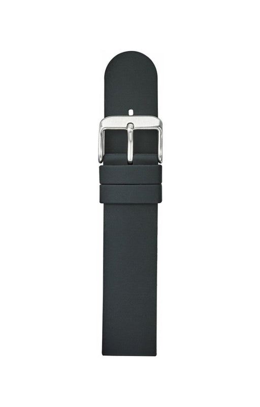 Straight Silicone Watch Band Black watch band - Strapped For Time