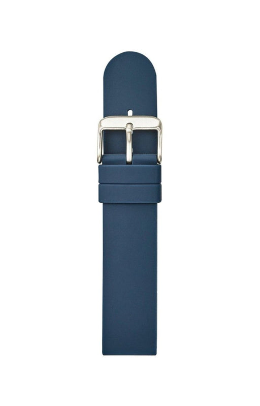 Straight Silicone Watch Band Blue watch band - Strapped For Time