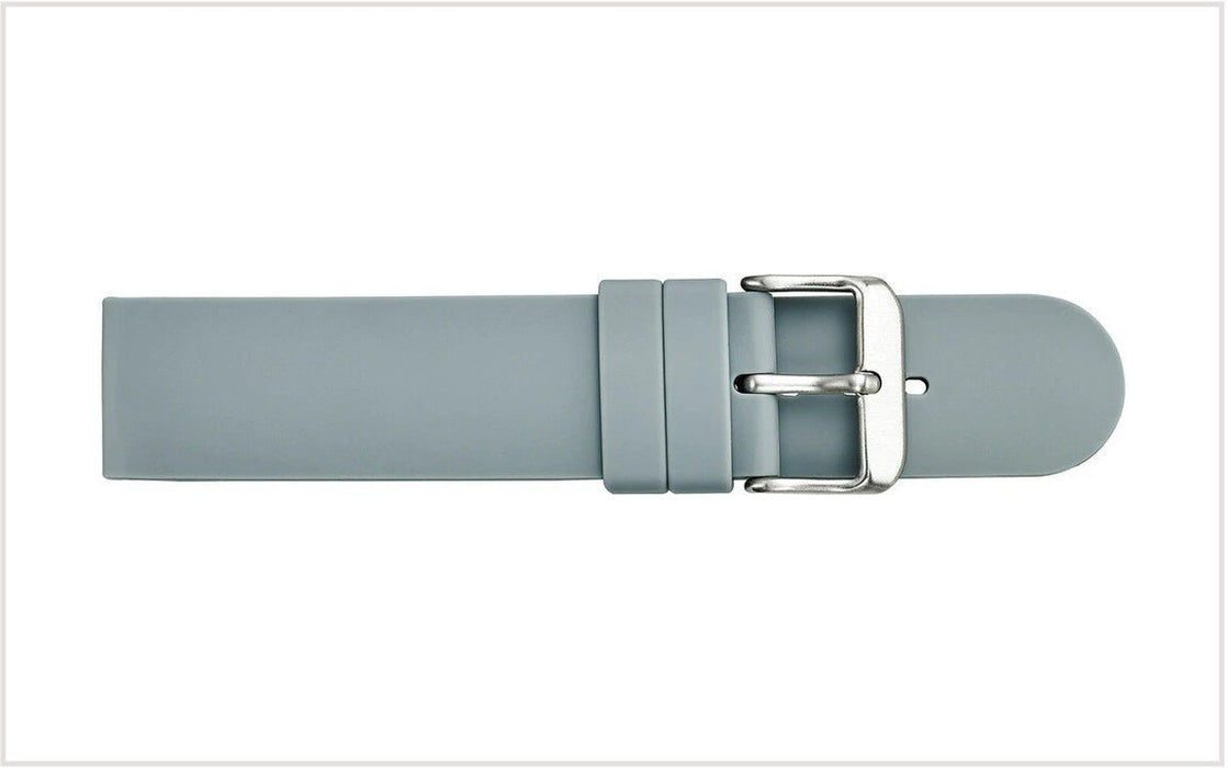 Straight Silicone Watch Band Gray watch band - Strapped For Time
