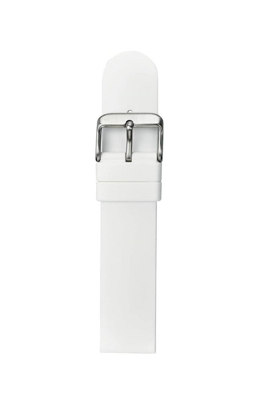 Straight Silicone Watch Band White watch band - Strapped For Time