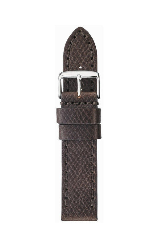 Thick Horween Leather Watch Band Brown watch band - Strapped For Time®
