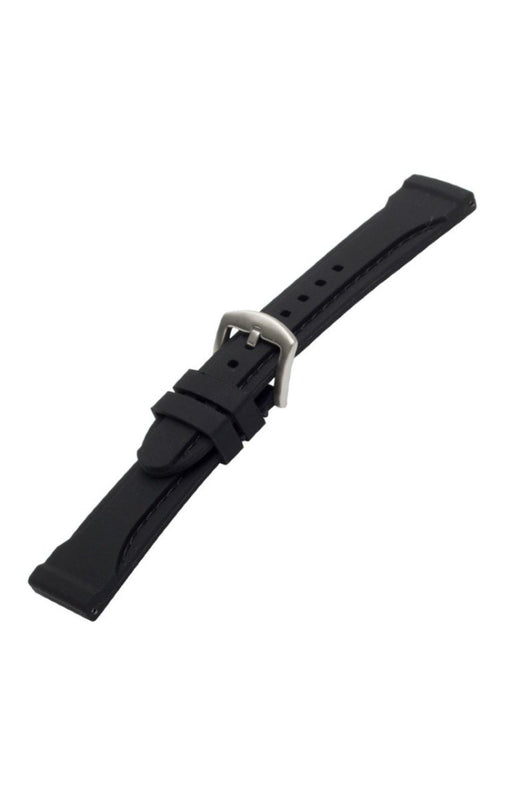 Thick Silicone Watch Band Black Stitch watch band - Strapped For Time