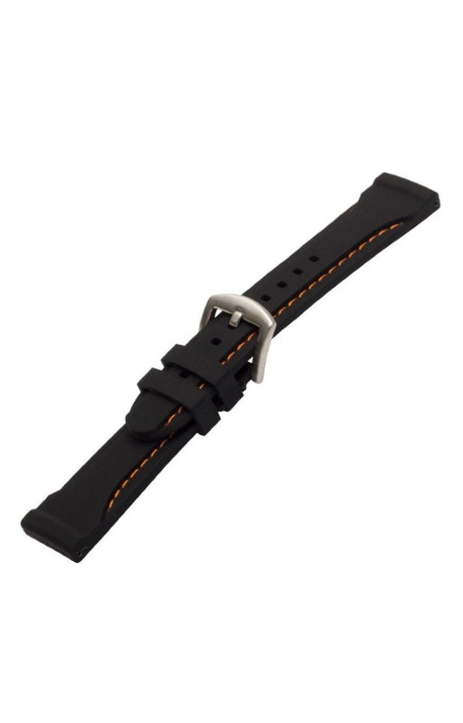 Thick Silicone Watch Band Orange Stitch watch band - Strapped For Time