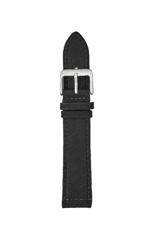 Water Resistant Canvas Watch Band Black watch band - Strapped For Time