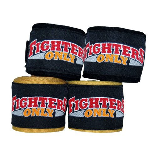 Fighters Only ~~ Stretch Hand Wraps ~ Black ~ UFC/MMA Specialists