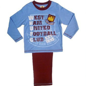 Beautiful WEST HAM UNITED FC Pyjamas - Boys Size 5-6 Years Old