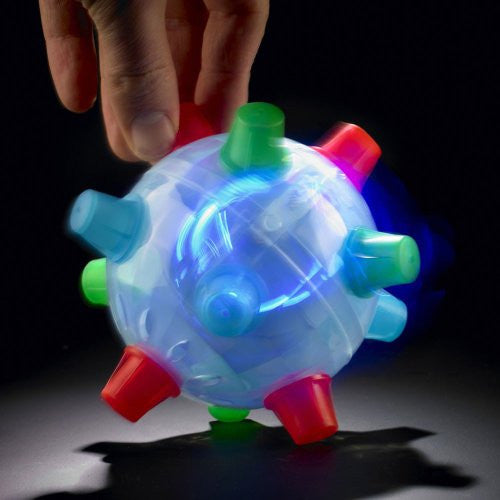 Jumping Joggle Bopper. Sound sensitive Vibrating Powered Ball Game