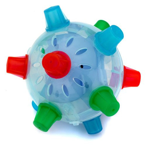 blue Giggling Jumping Joggle Bopper Ball