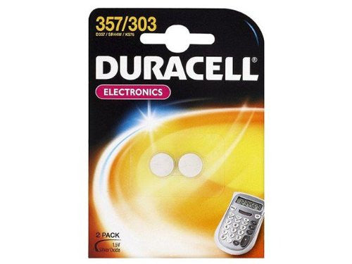 2-POWER Duracell 357/303 1.5V Watch Cell 2 Pack