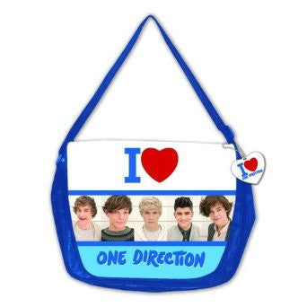 One Direction Blue Messenger Shoulder Bag
