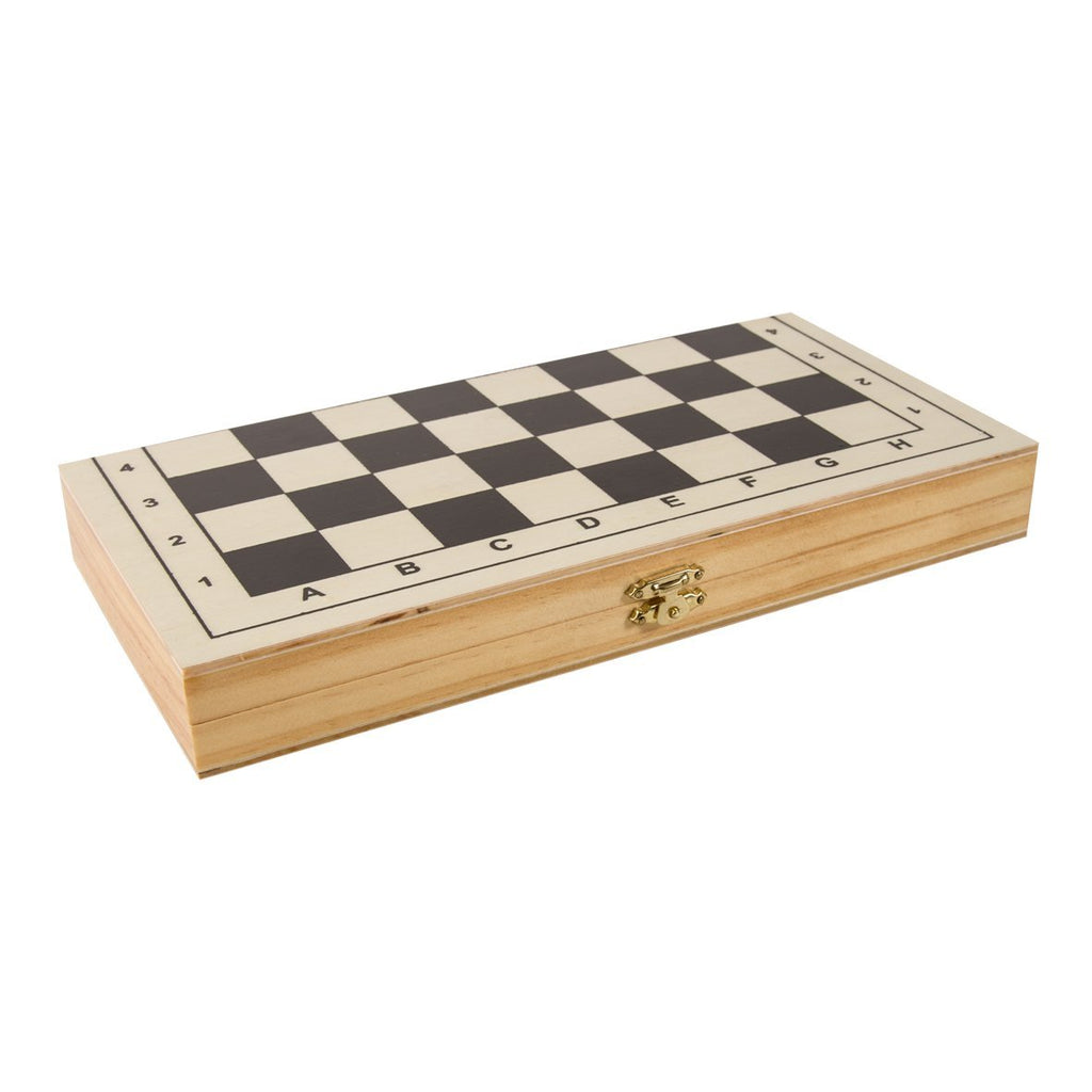 Deluxe 3 in 1 Wooden Games Set