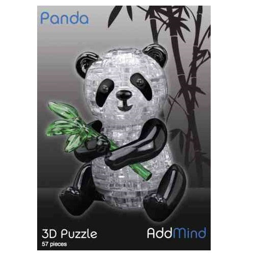 Crystal 3D Panda Puzzle in a box. 3D Jigsaw Puzzles
