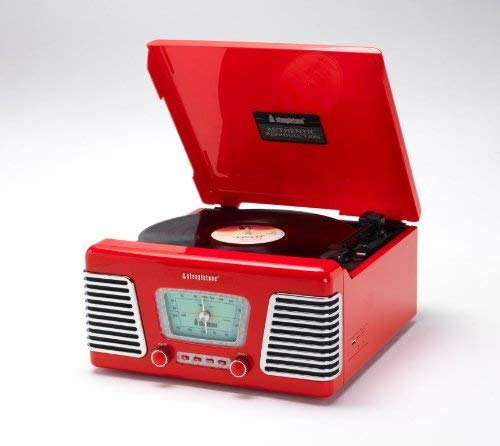 Steepletone 'Roxy' 1960s Retro Style MW/FM Radio & MP3 Playback - Red