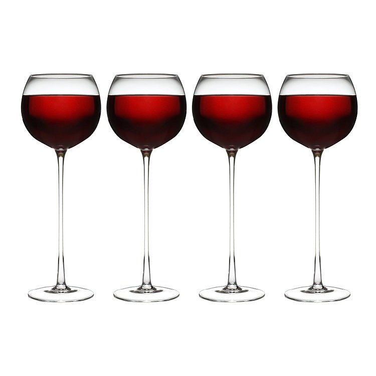 Set of 4 Long Stemmed Wine Glasses