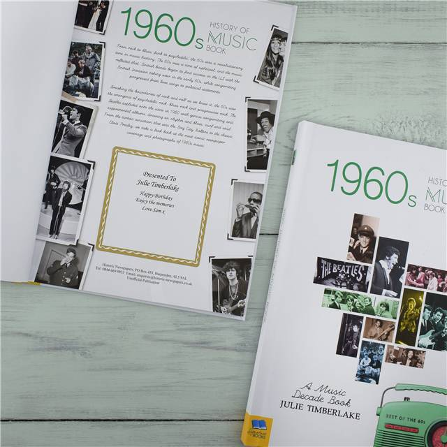Personalised 1960's History Of Music Book