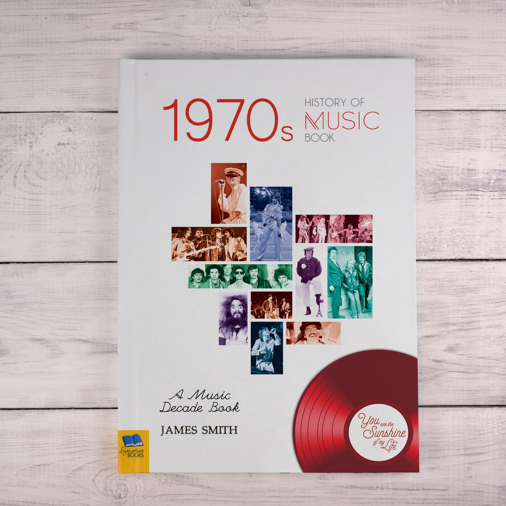 Personalised 1970's History Of Music Book