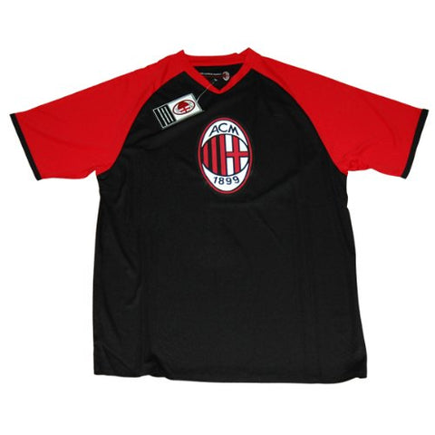 AC Milan Men's t-shirt / Football shirt style - 100% Polyester - Officially licenced AC Milan