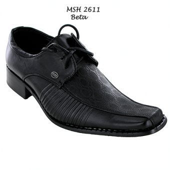 Mens ATF Black Lace Up Formal Shoes