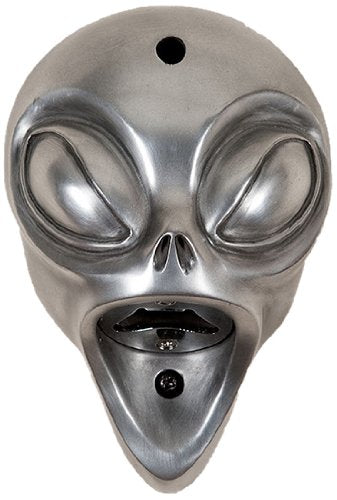 Beer Buddies Alien Wall Mounted Silver Finish Bottle Opener